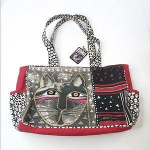 Laurel Burch Tote Canvas Bag Cat Lover